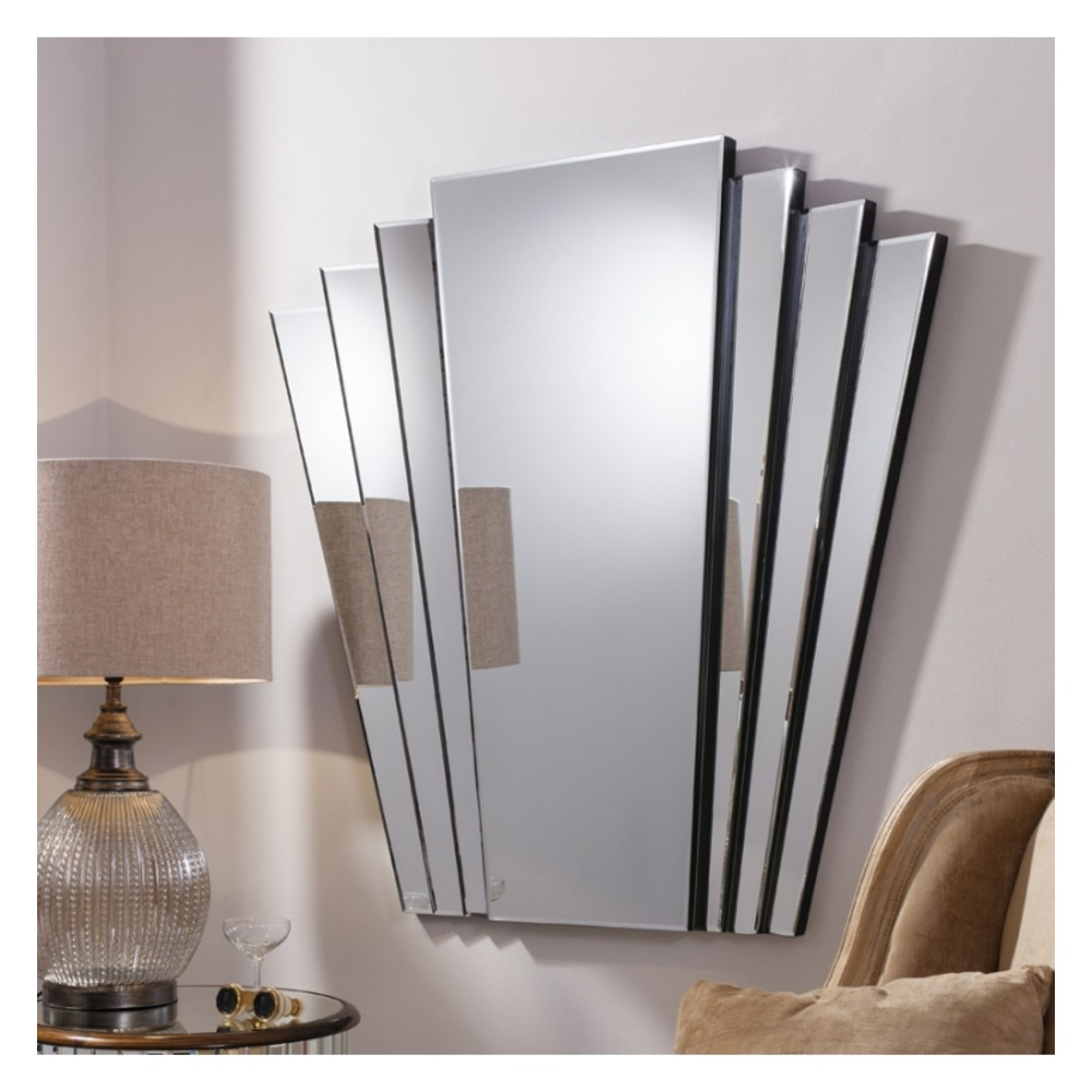Art Deco Mirror Gatsby Fan Tailed Wall Mirror