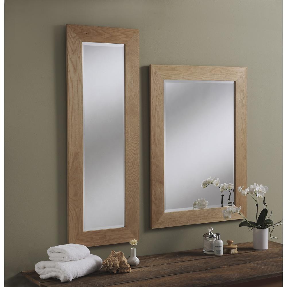 preston solid oak wall mirrors 58 5cm x 48 5cm