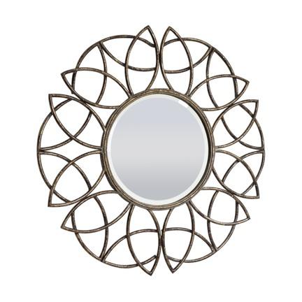 Beckfield Bronzed Metal Wall Mirror