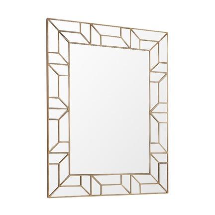 Verbier Gold Finish Rectangular Mirror