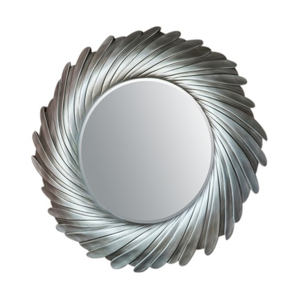 Lowry Silver Round Mirror