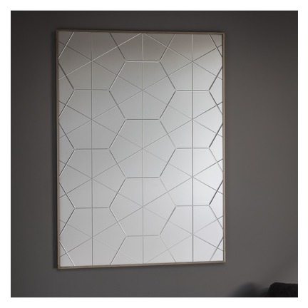 Esagono Groove Cut Hexagon Mirror