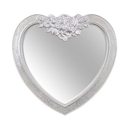 Shanghai Crackle Glass Heart Mirror