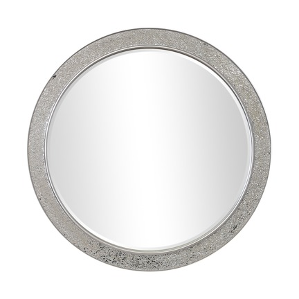 Shanghai Crackle Glass Round Mirror