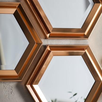 Fawkner Hexagonal Mirror - Set Of 3