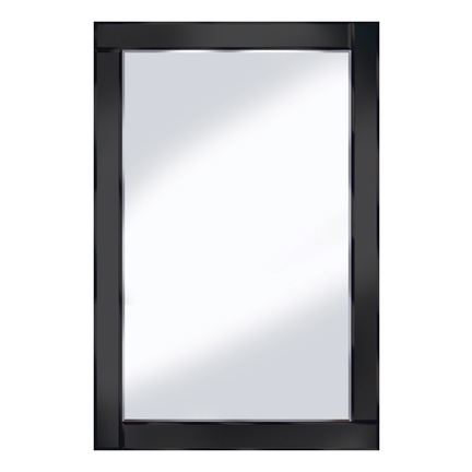 Chloe Black Bevelled Mirror- 3 Sizes
