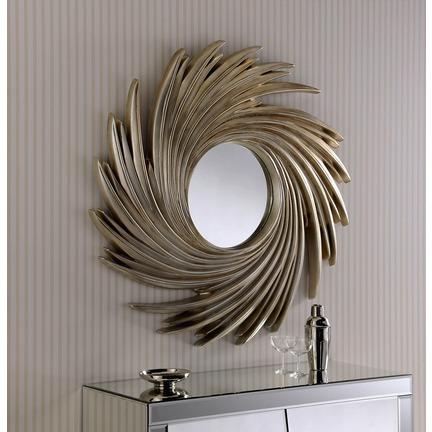 Rocco Swirl Round Mirror