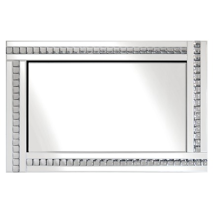 Alma White Glass Mirror - 3 Sizes