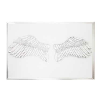 Angel wings on White Mirror Art
