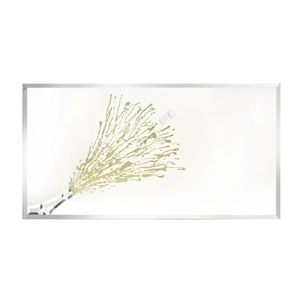 Champagne Celebration Gold Wall Art Mirror