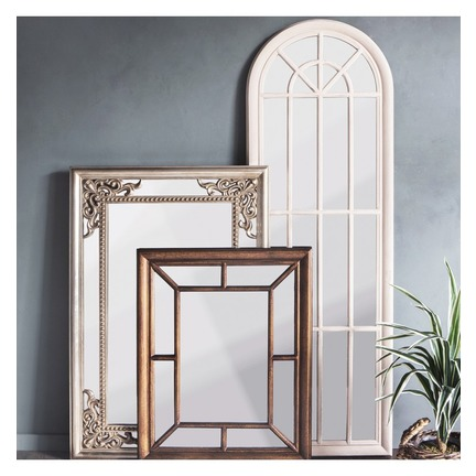 Curtis Window Mirror Antique White