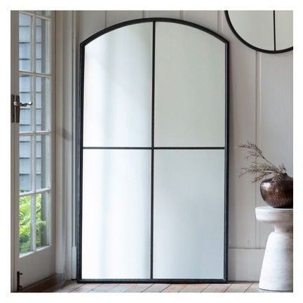 Frida Large Window Mirror Black