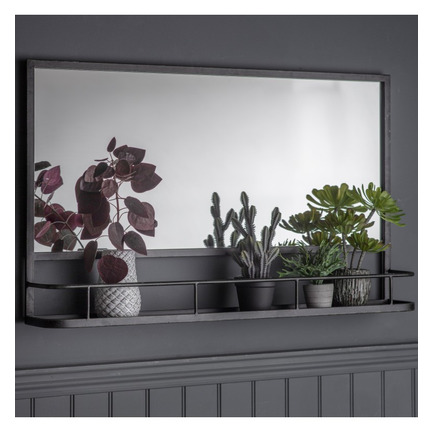 Emerson Overmantel Mirror WIth Shelf