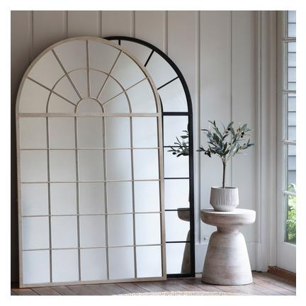 Hemsworth Leaner Window Mirror Black