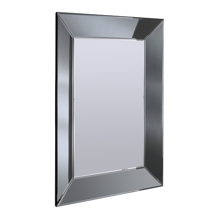 Mozia Grey Bevelled Wall Mirror