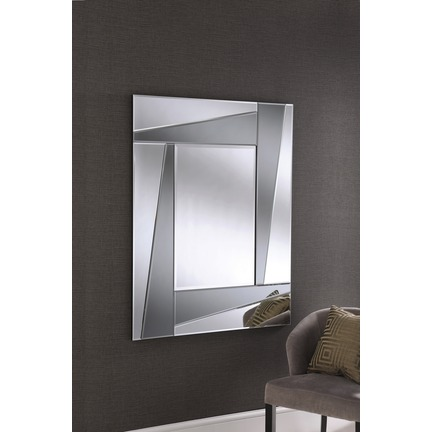 Smoked Art Deco Wall Mirror
