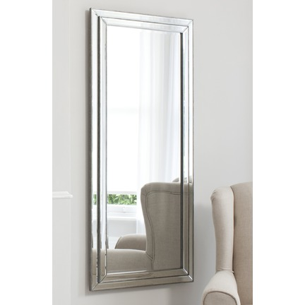 Chambery Pewter Leaner Mirror
