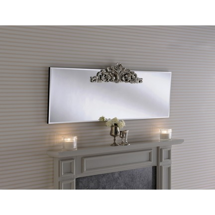 Lombardy Silver Mantel Mirror