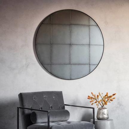 Boxley Antique Round Mirror