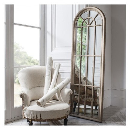 Curtis Panelled Arch Window Mirror