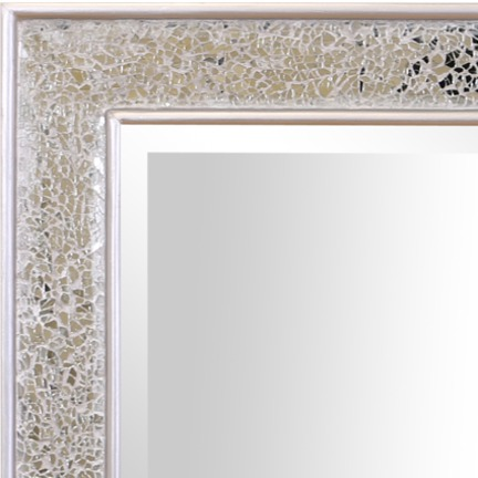 Shanghai Crackle Glass Mirror