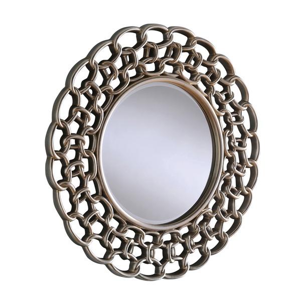 Salcombe Silver Round Mirror