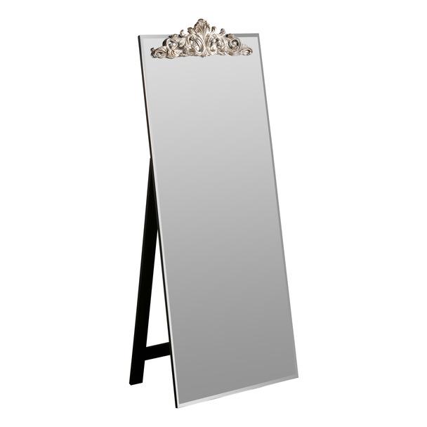 Lombardy Silver Cheval Floor Mirror