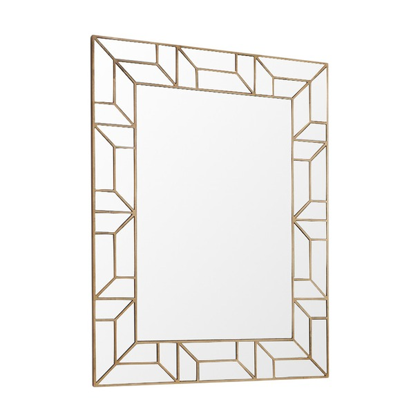 Verbier Gold Finish Rectangular Mirror
