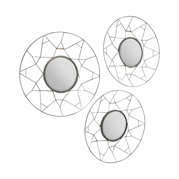 Tripoli Concave Metal Mirrors Set of 3