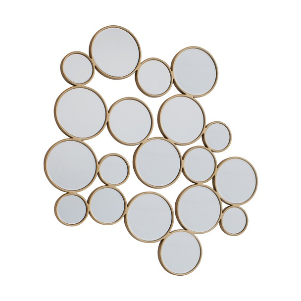 Camilla Soft Gold Bubbles Mirror