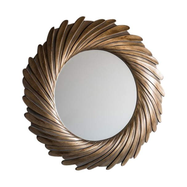 Lowry Gold Round Mirror