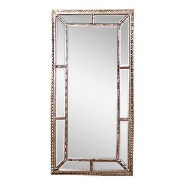 Lawson Pewter Finish Leaner Mirror