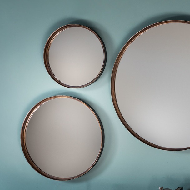 "Reading Round Mirror 16"" dia (4pk)"