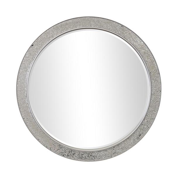 Shanghai Crackle Glass Round Mirror