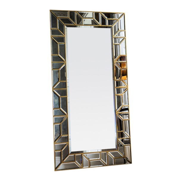 Verbier Gold Finish Leaner Mirror