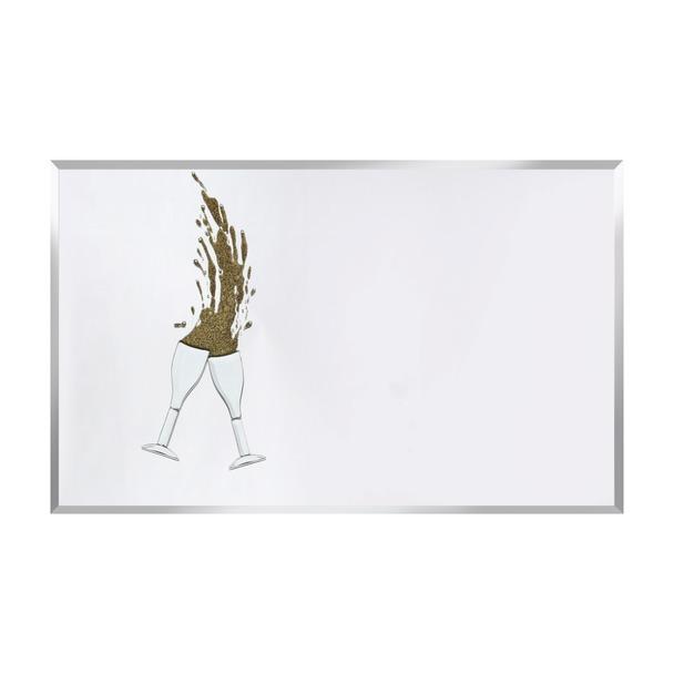 Gold Glitter Cheers on Mirror