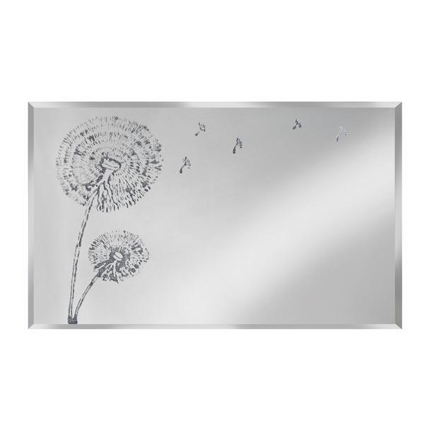 Silver Dandelion on Mirror Wall Art