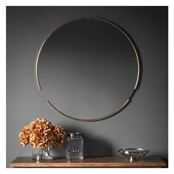 Fitzroy Round Mirror - Gold