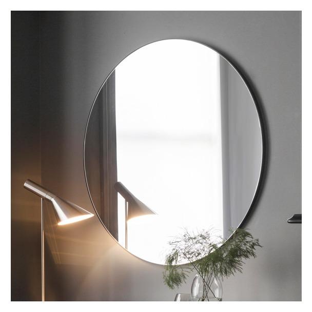 Hayle Round Mirror in Black