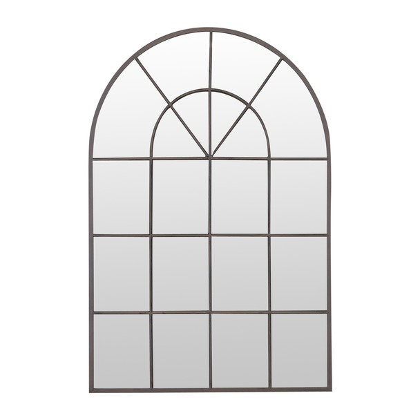 Stamford Metal Arched Window Mirror
