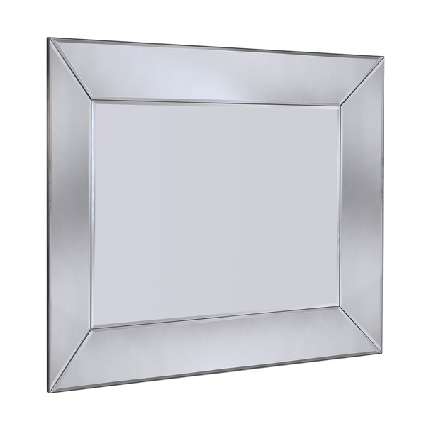 Mozia Silver Bevelled Wall Mirror
