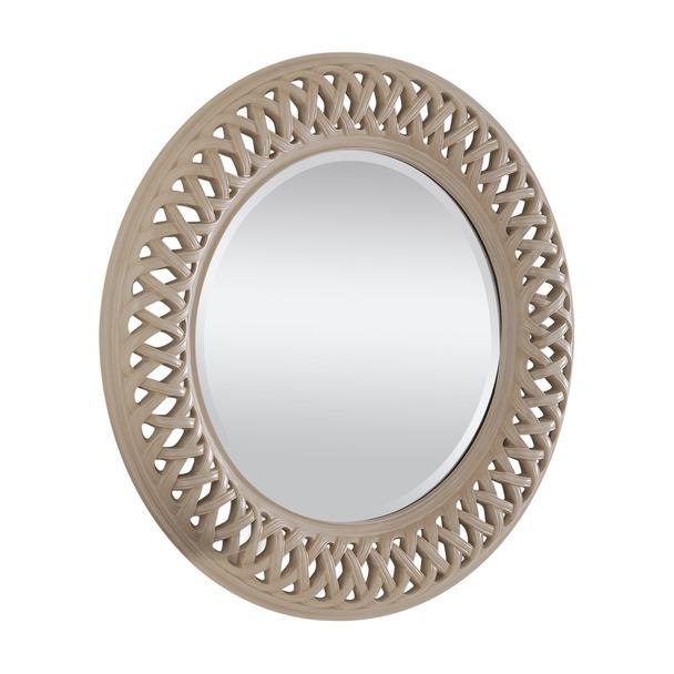 Venice Ivory Round Mirror